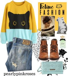 Feline Fashion #21 Click to see more by Pearlypinkroses!