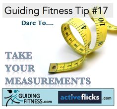 Since we see ourselves everyday, sometimes it's hard to see how much our body changes when we do the right things. Take your measurement and write it down to compare later. www.guidingfitness.com
