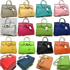 Hermes Bags! I would have one of every color!