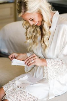 Lauren and Kevin's romantic celebration in California has us swooning.  Photo: @valoriedarling Bridesmaid Robes, Bridal Robes, Wedding Advice, California Wedding, Wedding Morning, Wedding Designs, Elegant Wedding, Wedding Photography, Romantic