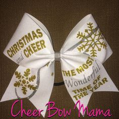 This bow is made of no flake glitter on a 3 inch white grosgrain ribbon backing. The bow size is 7-8 inches across. The short V-cut tails are