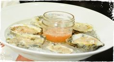 Raw Oysters on the Half Shell with Muscadine & Apple Mignonette