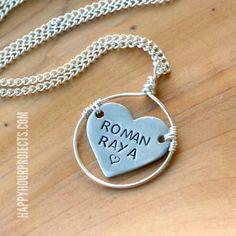 Stamped Heart Framed Necklace Tutorial & ImpressArt Stamp Set Giveaway 10/17/2014   120 Comments
