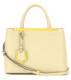 FENDI 2Jours Petite Leather Tote. #fendi #bags #shoulder bags #hand bags #leather #tote #lining