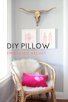 Customize it … Embossed Velvet Heart Pillow