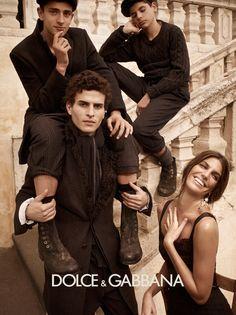 Dolce Gabbana adv campaign F/W 2013 Men whith italian actor Marco Brenno