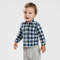 Aliexpress.com : Buy Brand 2016Spring Autumn 100%Cotton kid infant toddler baby boy causal shirt long sleeve plaid single breasted child baby clothes from Reliable baby boy shirt suppliers on QieKeKids Store