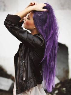 I love funky hair, especially purple!