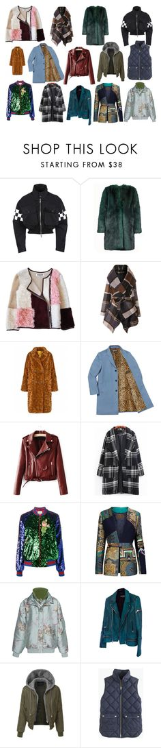 """Coats"" by orejinoro on Polyvore featuring Dsquared2, Dries Van Noten, Florence Bridge, Chicwish, Gucci, Etro, Puma, Balmain, LE3NO and J.Crew"