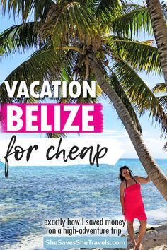 Ill show you how to take an INCREDIBLE trip to Belize on a tiiiiight budget. And no Im not talking about an all-inclusive. If youre going on a trip go big! This ones packed full of adventure - and for cheap. Barbados, Jamaica, Belize Vacations, Belize Travel, Beach Vacations, Romantic Vacations, Romantic Travel, Belize Honeymoon, Maldives Travel