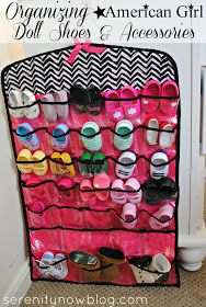 Organizing & Storing American Girl Doll Shoes & Accessories, from Serenity Now