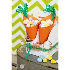Super cute Easter carrot cones for treats.
