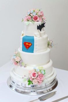 Just a little Superman in the cake design. That side will be His choice of flavor. Not sure about anything else on the cake though