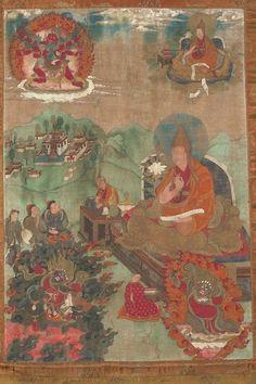Thangka of Teacher (Lama) - Dalai Lama V, Ngagwang Lobzang Gyatso (Himalayan Art)