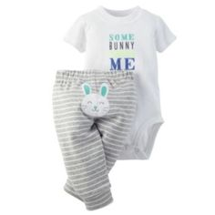 "Baby Boy Carter's ""Some Bunny Loves Me"" Bodysuit & Pants Set"