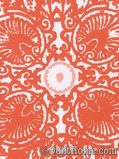 Ty Pennington Impressions Home Dec SATY007-Orange Home Dec Fabric / THIS ONE MAY BE WHAT I'M LOOKING FOR! This pic is a bit zoomed it, but it's really pretty from further out.