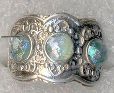 Roman glass sterling silver ring adorable design by Bluenoemi, $234.00
