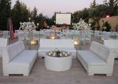 The Lounge Area at the Wedding Reception
