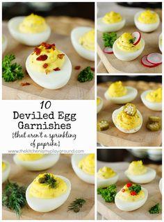 10 Deviled Egg Garnishes