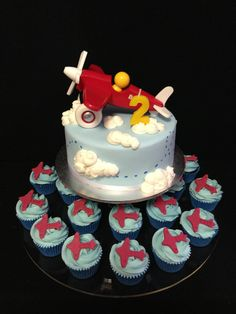Aero plane Birthday cake and cupcakes made by @sweetsbysuzie Melbourne