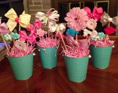 Bow-quets I made for a coworker's baby shower! =)