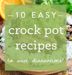 From beef to chicken, soup and sandwiches, here are 10 of my favorite easy crock pot recipes! | iowagirleats.com