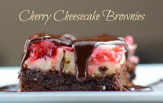 Cherry Cheesecake Brownies - These are awesome! http://flavormosaic.com/best-brownies/