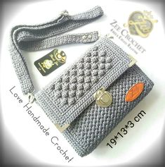 Crochet Clutch, Crochet Purses, My Bags, Purses And Bags, Best Bags, Knitted Bags, Diy Crochet, Handmade Bags, Fashion Bags