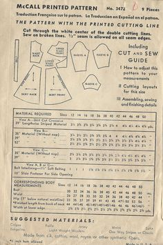 1939 WW2 Vintage Sewing Pattern B36 DRESS 1357 McCall