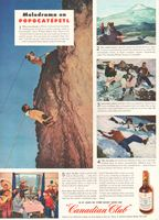 Canadian Club Blended Whisky Bottle 1946 Ad Picture