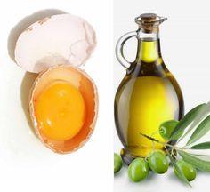DIY Haarmaske mit Olivenöl und Eigelb-reichhaltige Haarkur
