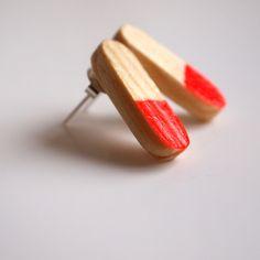 kolczyki woodchuck  |  woodchuck earrings #wood #design #handmade #earrings