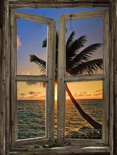 Beach Cabin Window Mural peel and stick canvas window wall mural. Simply peel off the protective backing and apply it to any smooth hard surface. Removable and reusable. Window Mural, Window View, Ocean Mural, Wall Murals, Wall Art, Faux Window, Beach Scenes, Wall Canvas, Wall Decor