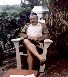 Ernest Hemingway at his home in Cuba, 1947.