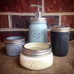 SALE Bathroom Accessories-Rust Resistant Mason Jar Bathroom