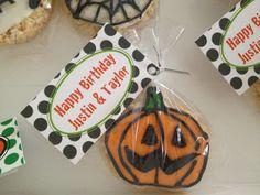 Halloween rice crispies ,birthday party favor
