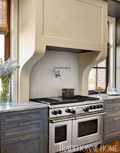 Smart Kitchen Dressed in Stylish Neutrals   Traditional Home