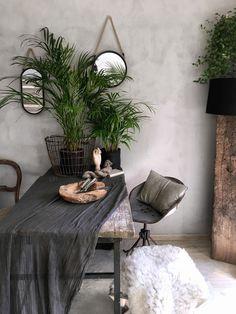 Grey wall,plants,instagram lavien_home_decor