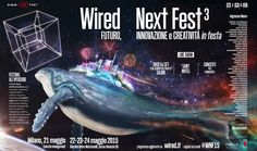 "Wired Next Fest 3 - ""Space Whale"" Art director: Corrado Garcia - Illustration & 3D Modeling: Cristiano Rinaldi"