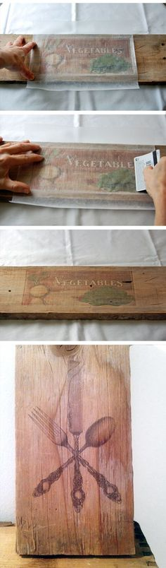 How To Print On Wood Instructions