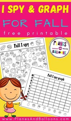 Free printable I spy activity - numbers 1-10 preschool and kindergraten. #prek #planesandballoons Fall Preschool Activities, Preschool Math, Kindergarten Worksheets, Art Activities, I Spy Games, Raising Kids, Fun Learning, Lesson Plans, Literacy