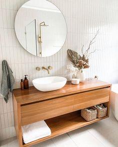 Bathroom Renos, White Bathroom, Bathroom Tapware, Warm Bathroom, Bathroom Inspo, Bathroom Inspiration, Bathroom Ideas, Black Subway Tiles, Albert Park