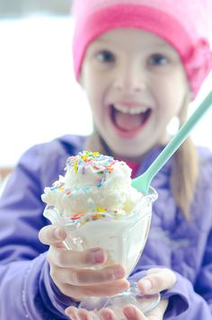 Easiest Snow Cream - super fun treat for a snow day!