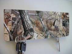 Camo Key Rack #hunting #camo.