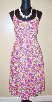 Tory Burch Multiple Alhambra Print Cotton Voile Malta Dress $98