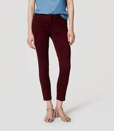 Image of Sanded Sateen Chinos in Marisa Fit color Plum Preserve