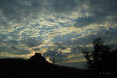 Sonnenuntergang an einem der Hegau-Vulkane