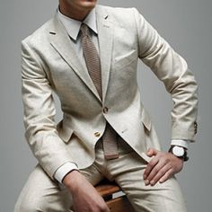 Linen Suit for the summer if more interested in creams/browns