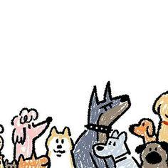 Dog Illustration, Animal Illustrations, Concept Art Tutorial, Dog Branding, Sketch Inspiration, Cute Cartoon Wallpapers, Painting For Kids, Cute Drawings, Cute Art