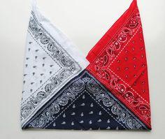 Diy Tote Bag, Diy Purse, Bandana Crafts, Crafts With Bandanas, Diy Bag Designs, Sewing Crafts, Sewing Projects, Costura Diy, Origami Bag